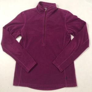 REI Purple 1/2 Zip Pull Over Jacket Hiking Size M